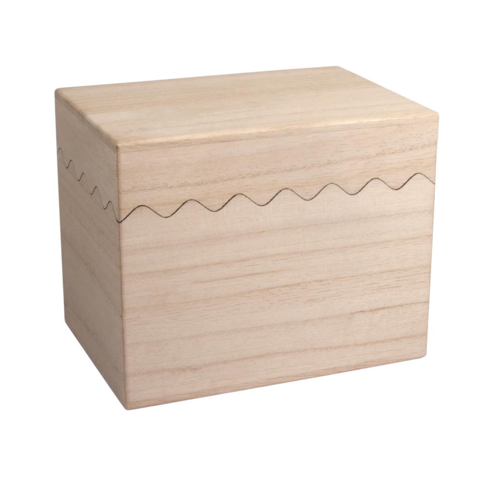 Holzbox, FSC 100%, 14x10x11,5cm, natur