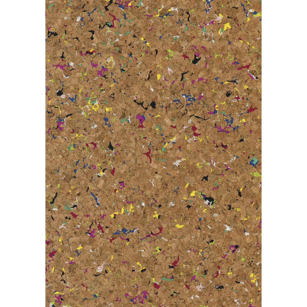 Korkstoff Granulat gerollt, 45x30cm, nat./bunt, 0,5 mm , Box 1Rolle