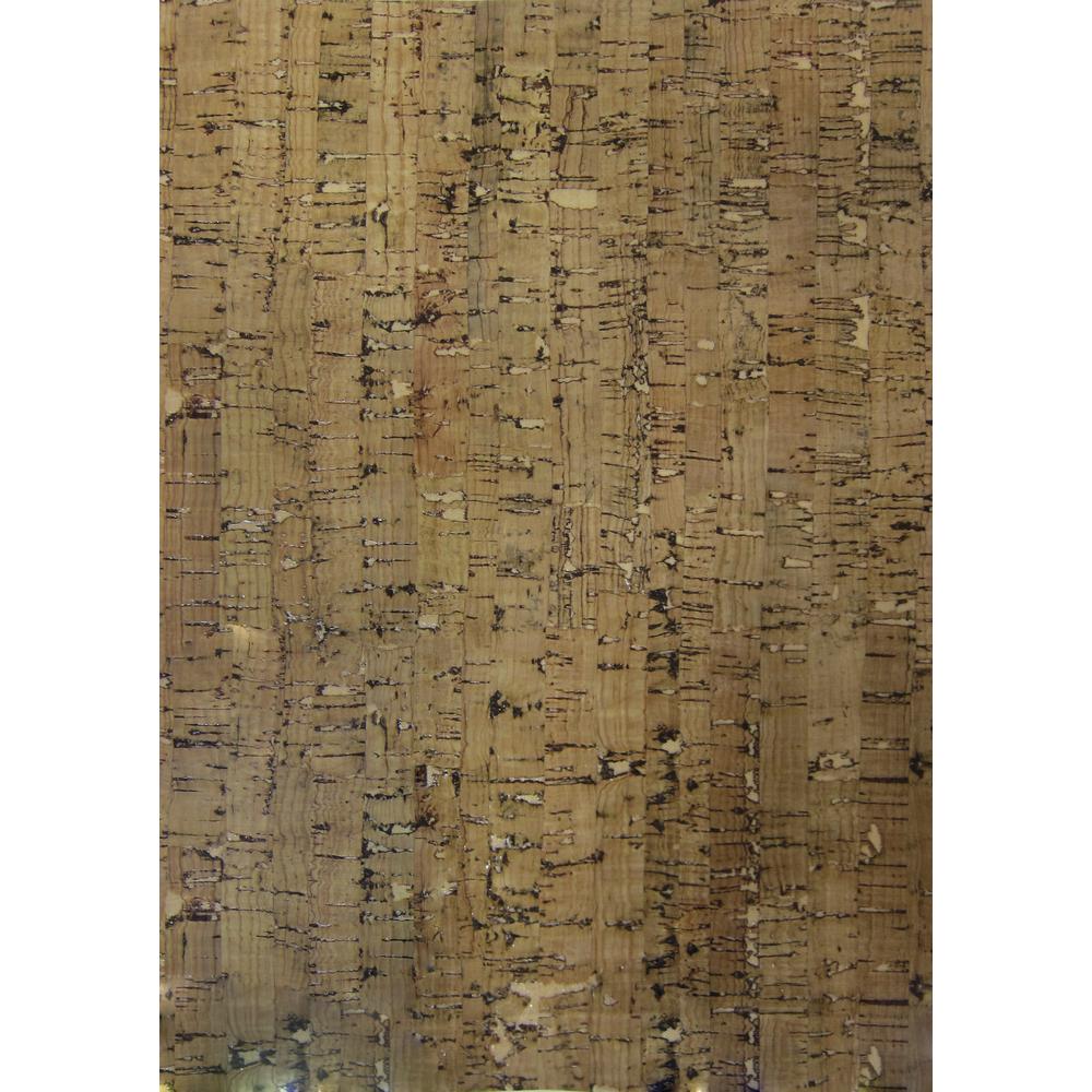 Kork-Papier: Streifen, selbstklebend, 20,5x28cm, SB-Btl 1Bogen