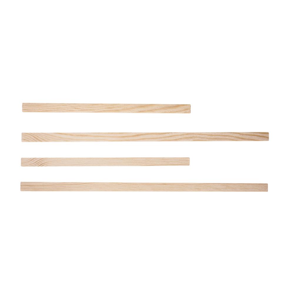 Holzstäbe Set, 5x10mm, 2x18,5 + 2x27,5cm, SB-Btl 4Stück