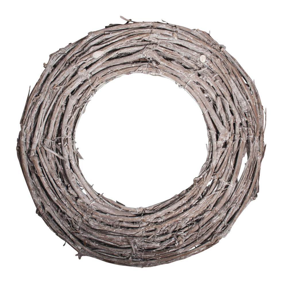 Rebenkranz weiß gewischt, 40cm ø, 10x3cm, flach, natur