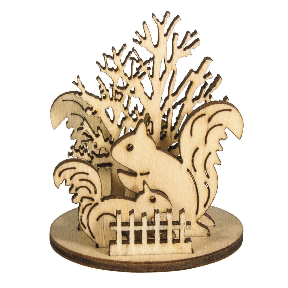 Holz-Steckteile Herbstwald, 5,8cm ø, 2 Motive, 4,5-5,5cm, SB-Btl