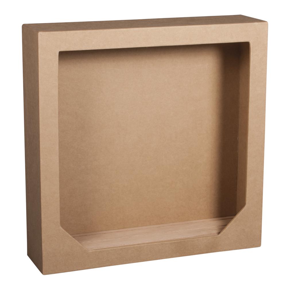 Papp. Rahmen m. Holzsteckbod.,FSCMixCred, 21,7x21,7x5,5cm