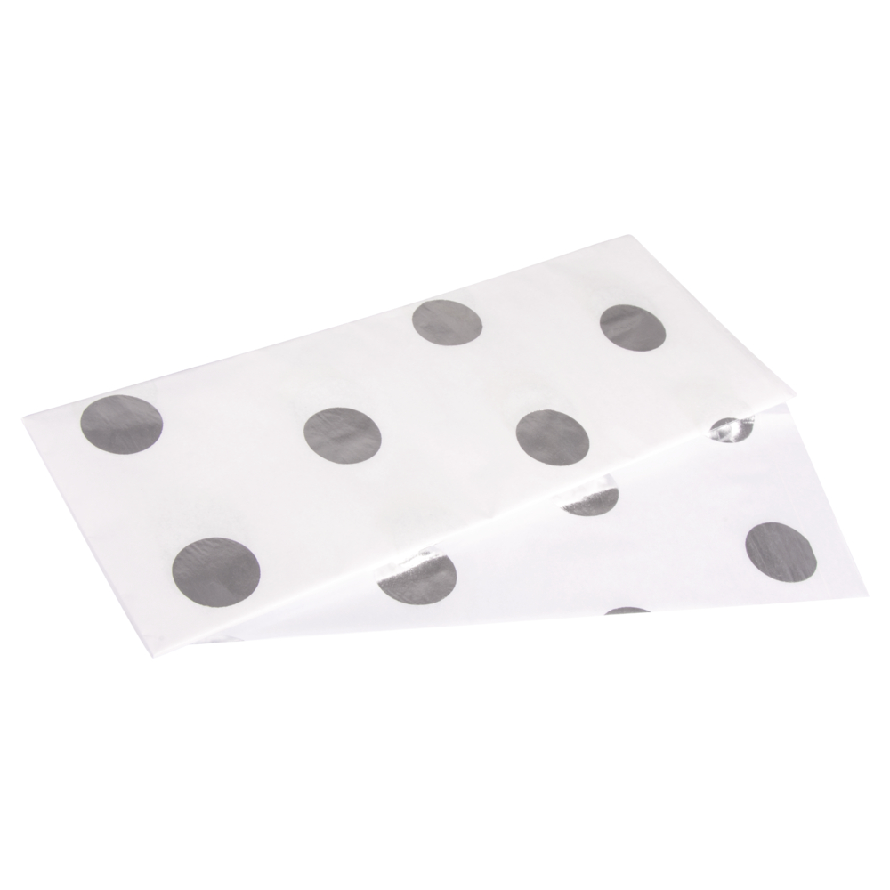Seidenpapier Punkte, lichtecht, 50x75cm, 17g/m², farbfest, SB-Btl 3Bogen