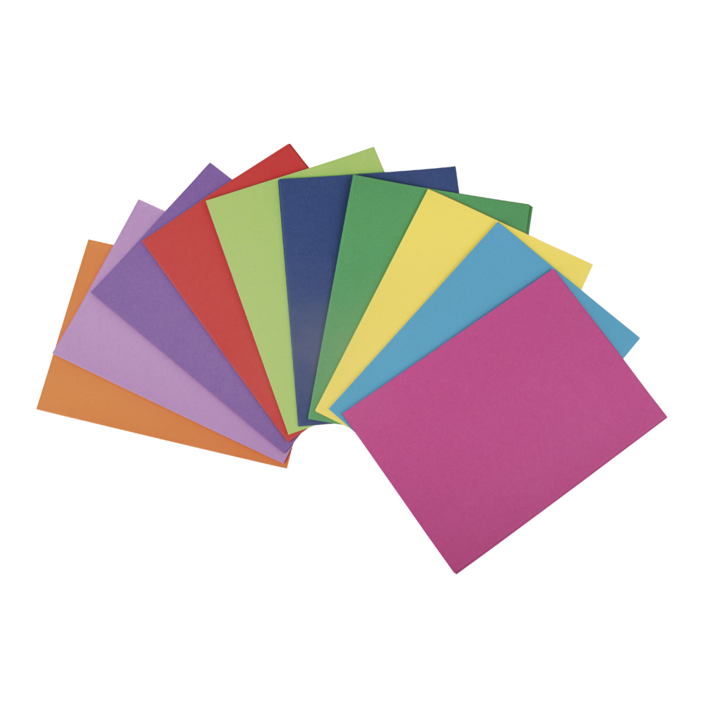 Bastelkarton, farbsortiert, DIN A4, 180g/m2, 10 Farben, 100Blatt, bunt