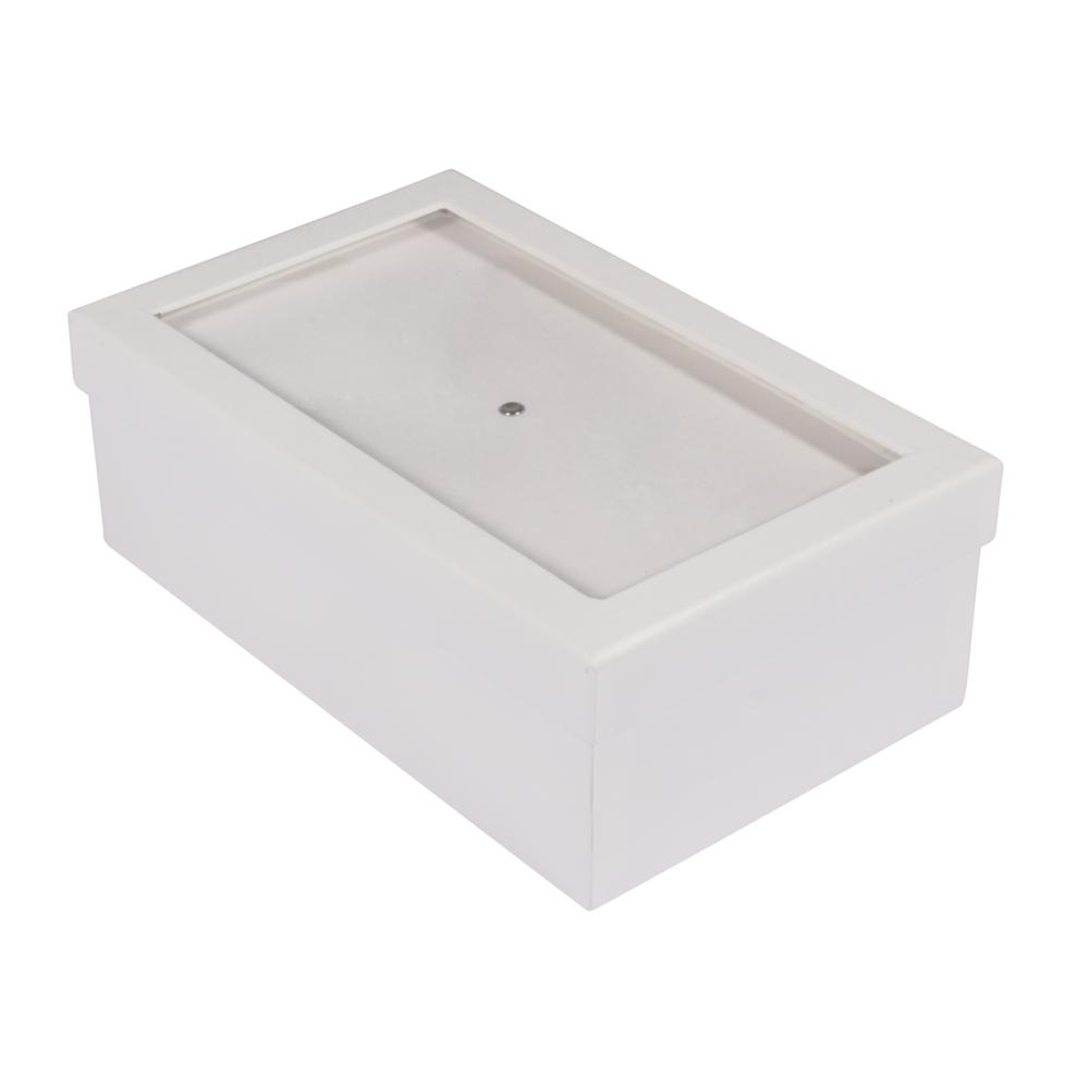 Pappm.Box m.Schütteldeckel,FSC Rec.100%, 20x12,5x7cm, weiß