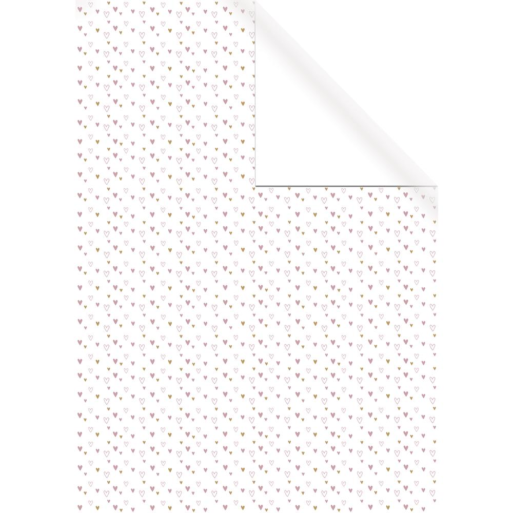 Geschenkpapier Weiß Kraft, FSC Mix Cred., 70x200cm, 1 seitig bedruckt, 70g/m2