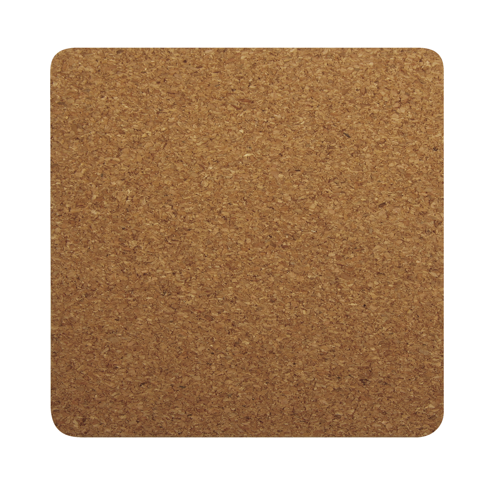 Kork-Untersetzer quadratisch, 10x10x0,3cm, SB-Btl 4Stück