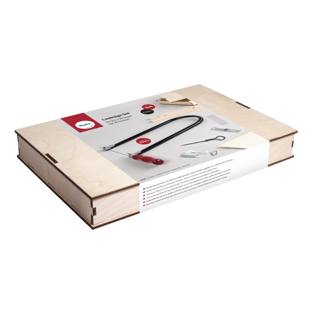 Laubsäge-Set inkl. Nagelbohrer, inkl. Sperrholzplatte, Box 1Set