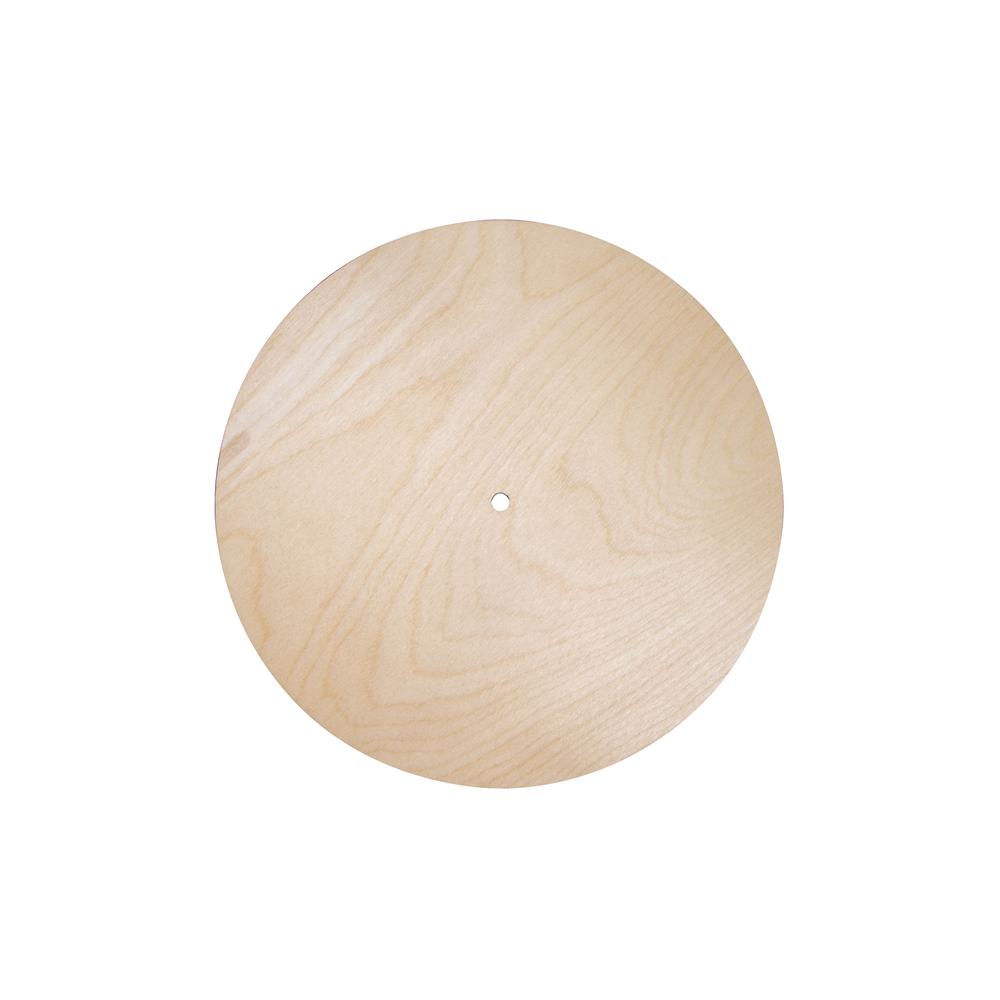 Holzplatte Rund, FSC Mix Credit, 25cm ø, Loch ø 7,6mm, Stärke 6mm, Box 1Stück, natur