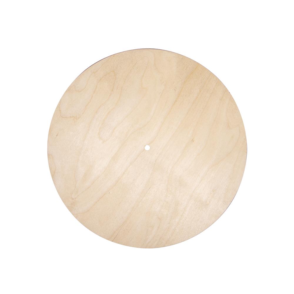 Holzplatte Rund, FSC Mix Credit, 30cm ø, Loch ø 7,6mm, Stärke 6mm, Box 1Stück, natur