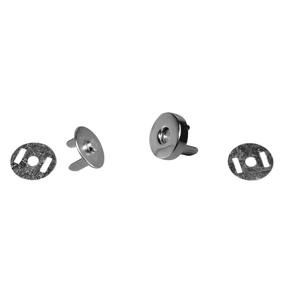 Magnetverschluß, SB-Btl. 2 Stück, silber