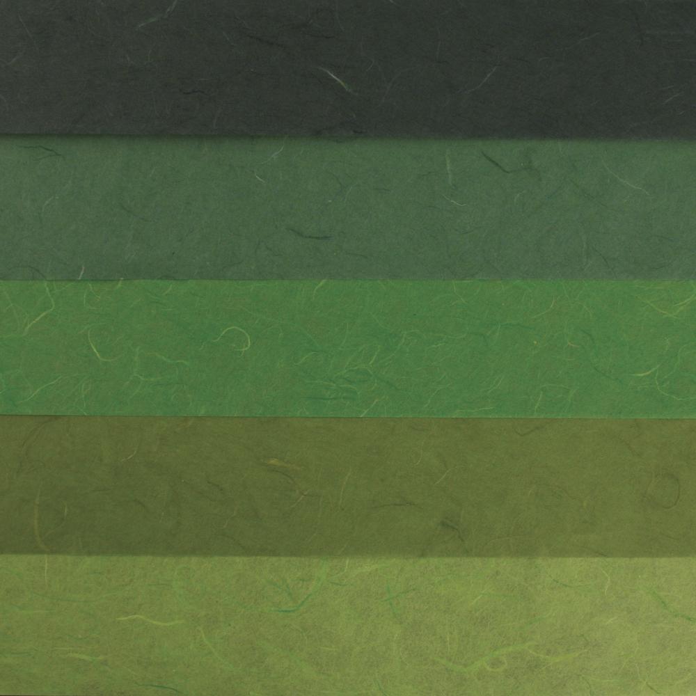 Papier-Set DIN A3 Grün-Töne, SB-Btl. 5 Stück verschiedene Farbtöne
