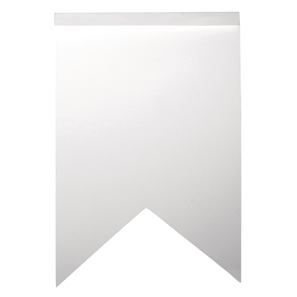 Papier Wimpel-Girlande Zigzag, 12x17,5cm,  SB-Btl 14Stück, weiß