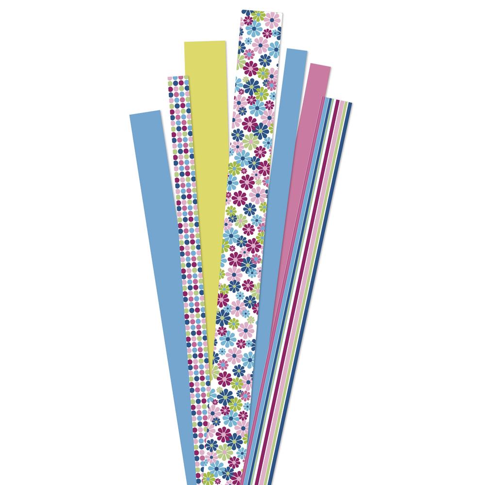 Papierstreifen, FSC Mix Credit, ''Flower Garden pink'', SB-Btl 90Stück