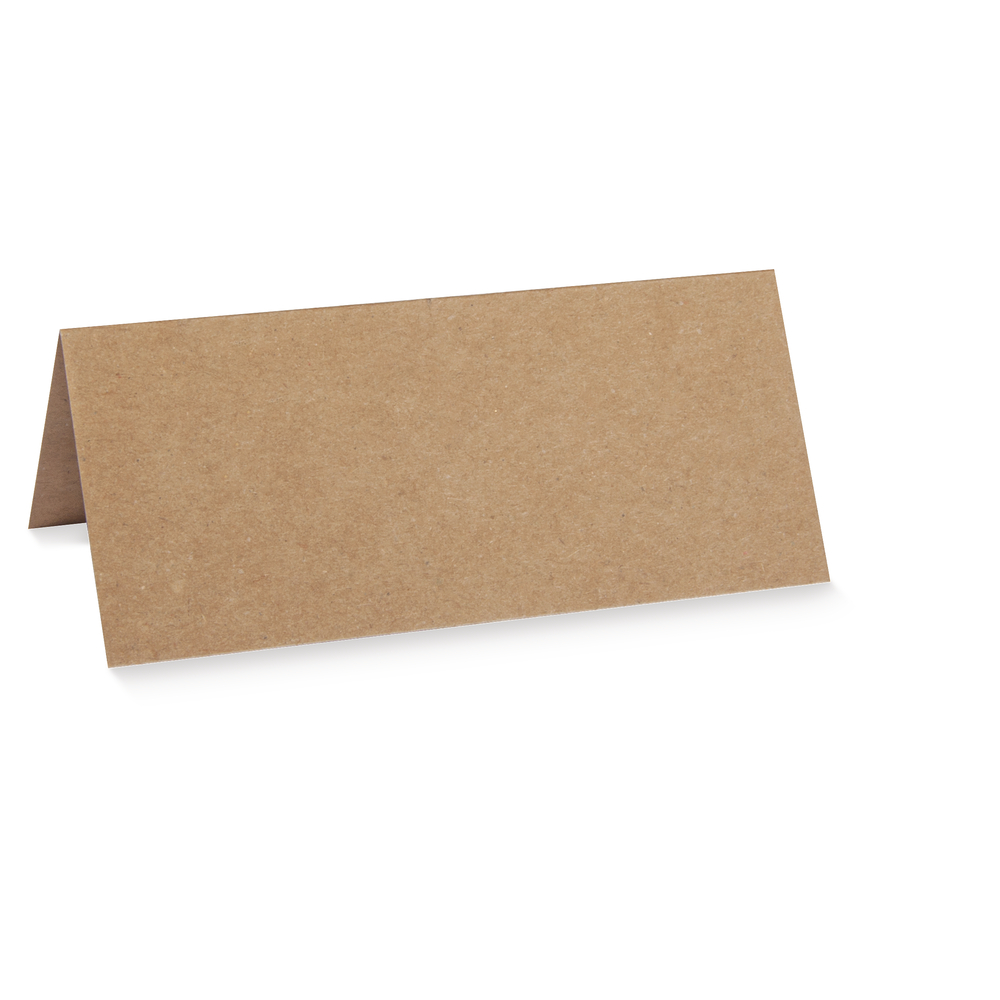 Tischkarte doppelt,kraft, FSC Rec.Credit, 100x90mm, 220g/m2, Beutel 5Stück, kraft