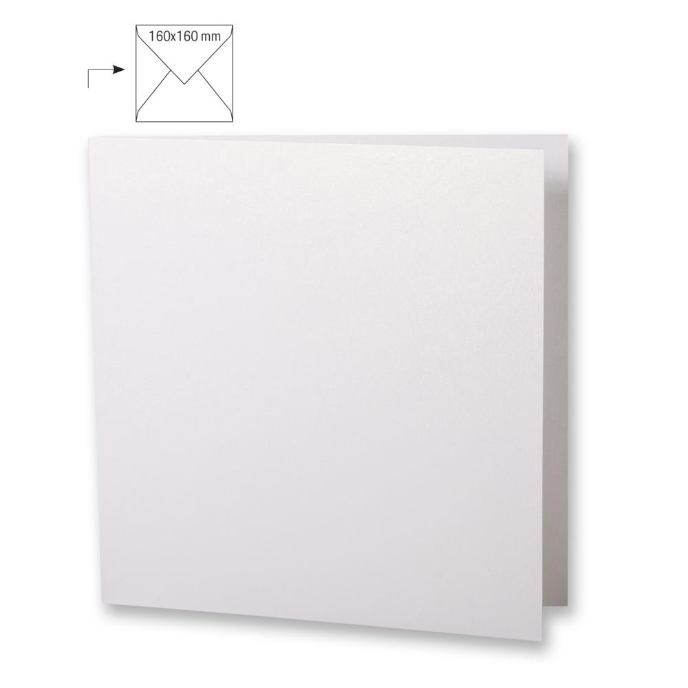 Karte quad.,doppelt,metallic,FSC MixCred, 150x300mm, 220g/m2, Beutel 5Stück