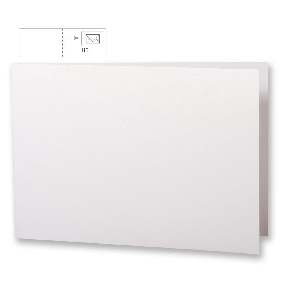 Karte B6,querformat,metallic,FSC MixCred, 336x116mm, 220g/m2, Beutel 5Stück