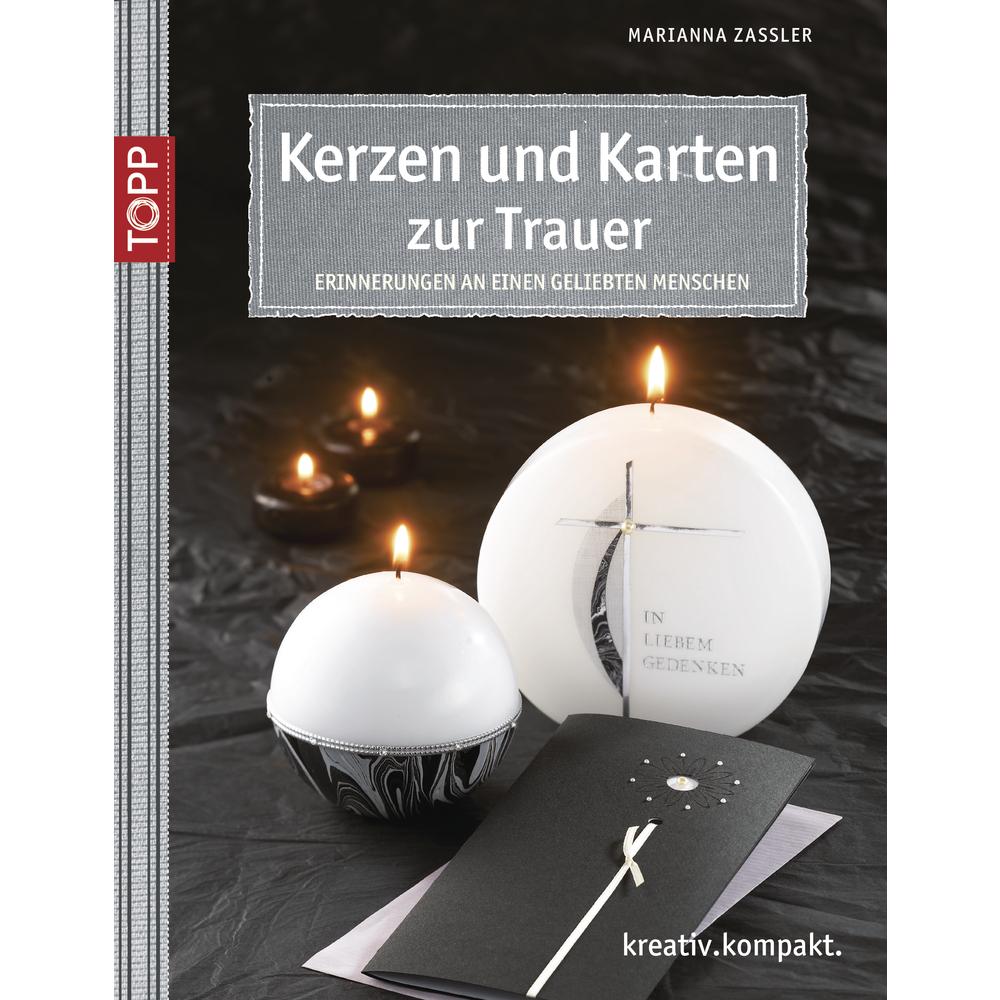 Buch: Kerzen und Karten zur Trauer, nur in deutscher Sprache