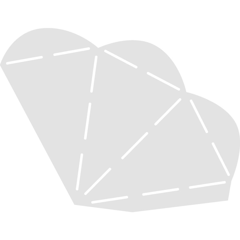 Schablone, Spitztüte, 21,8x14,7 cm, SB-Btl. 1 Stück