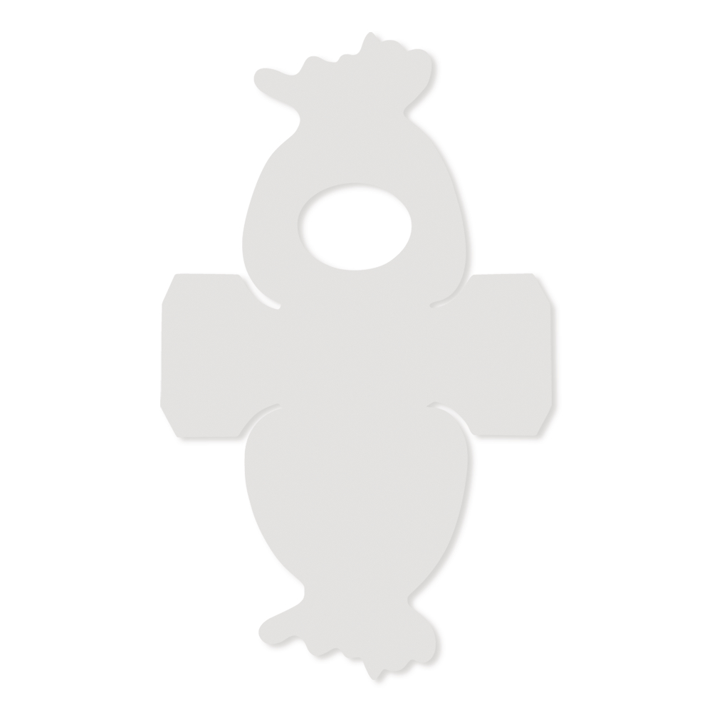 Schablone-Geschenkbeutel, 21,6x12,9 cm, SB-Btl. 1 Stück