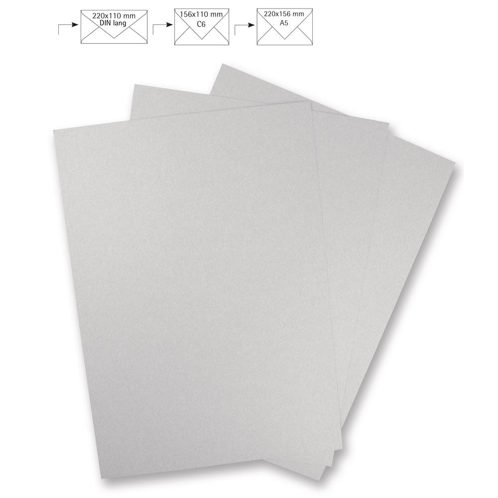 Metallic-Papier, FSC Mix Credit, 21,3x30cm, 240g/m2, Beutel 5Stück