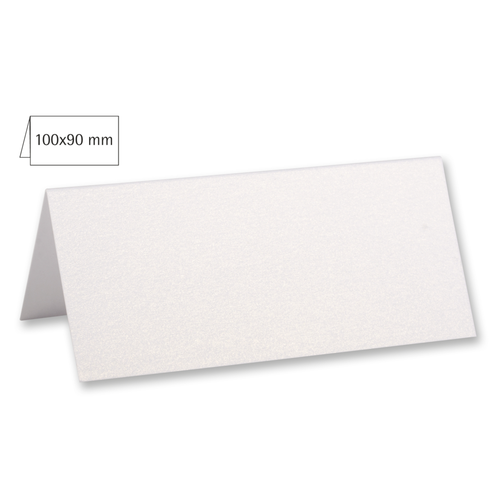 Tischkarten, metallic, FSC Mix Credit, 100x90mm, 250 g/m2, Beutel 5Stück