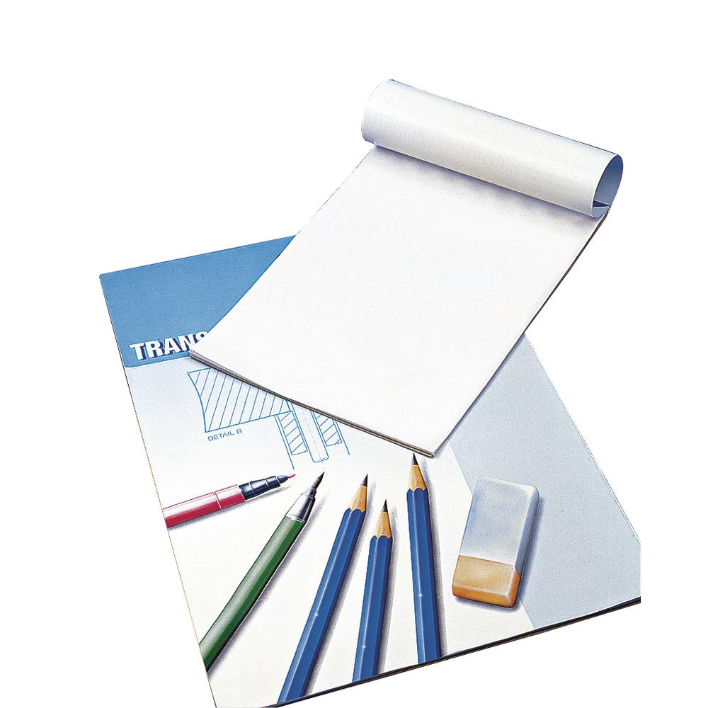 Transparentpapier, 80 g/m2, Block 25 Blatt, A4, Pauspapier