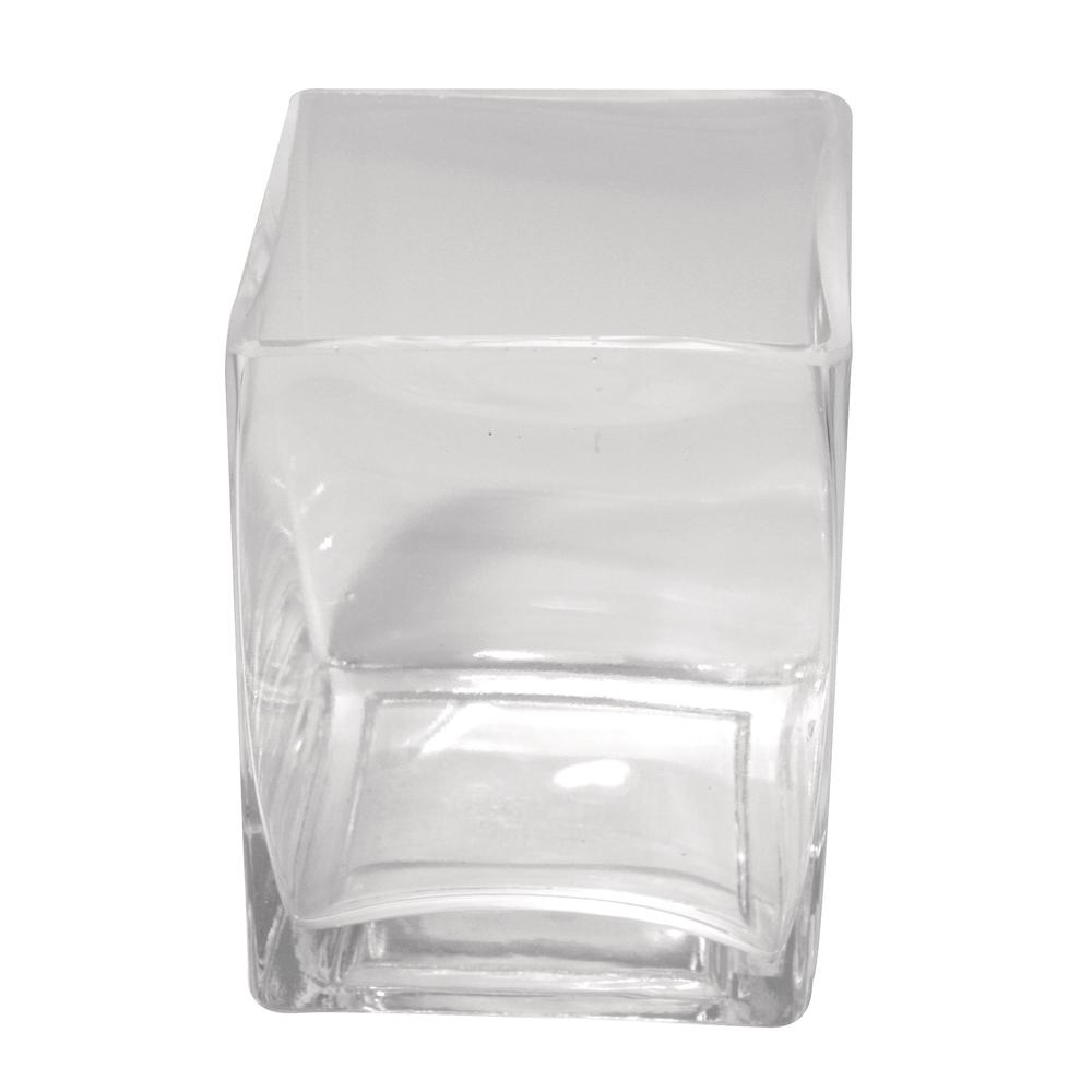 Glas-Vase, klar, 7,5x7,5 cm, Höhe 8 cm