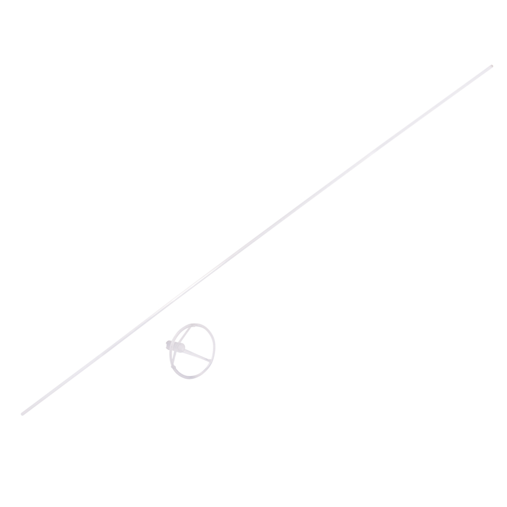 Bubble Ballonstäbe m. Halterung, 6,2cm ø, 83,5cm, transparent, SB-Btl 5Set