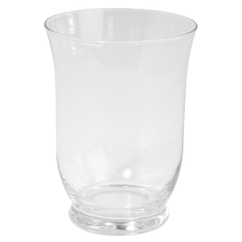 Glas-Vase mit Fuß, ø 8,8 cm, Höhe 12 cm