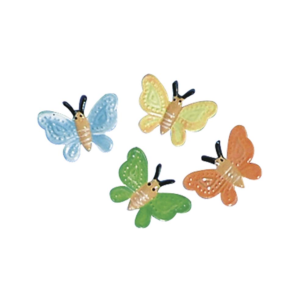 Metall-Schmetterling, 1,5 cm, SB-Btl. 16 Stück, 4 Farben