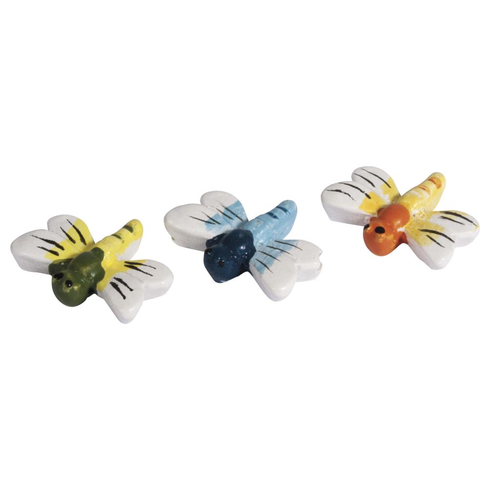Polyresin-Libellen, 2cm, 3 Farben, SB-Btl 12Stück, 3 Farben