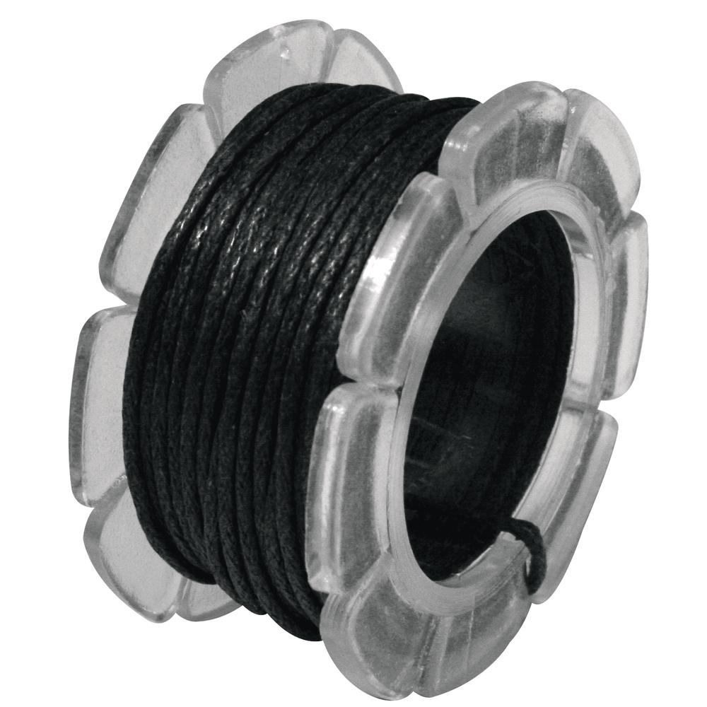 Baumwoll-Schmuckkordel, gewachst, 1 mm ø, SB-Btl. Spule 5 m