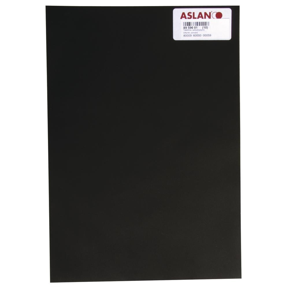 Tafelfolie, selbstklebend, 20x30cm, schwarz